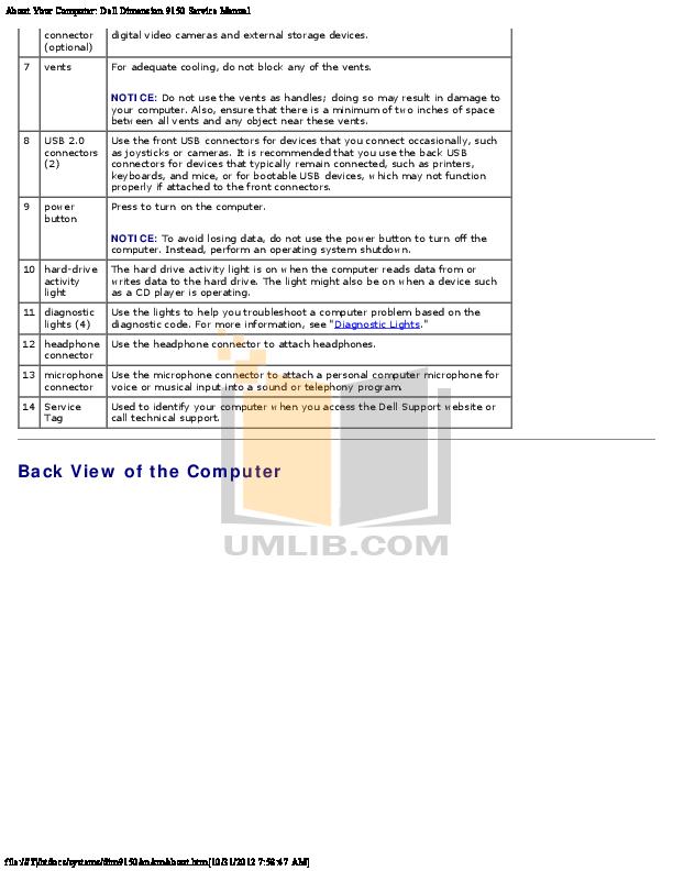 pdf manual for dell desktop dimension 9150 rh umlib com dell dimension 9150 manual pdf dell dimension 9150 service manual