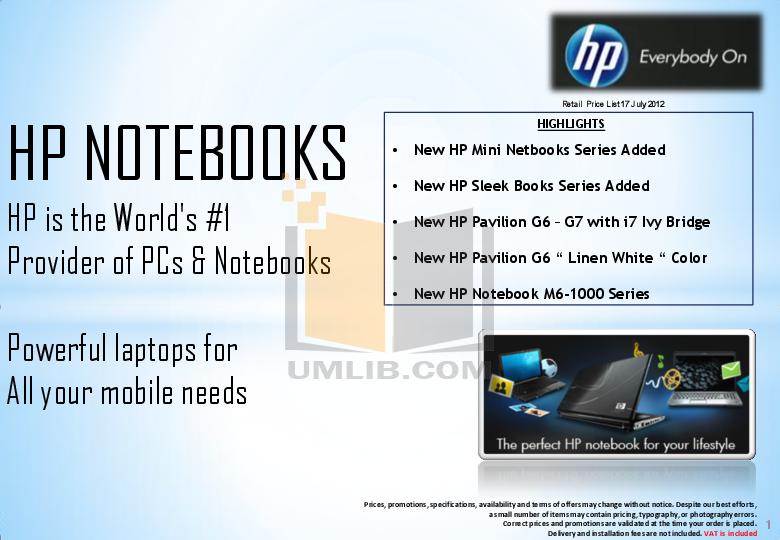 pdf for HP Laptop Pavilion DV1303 manual