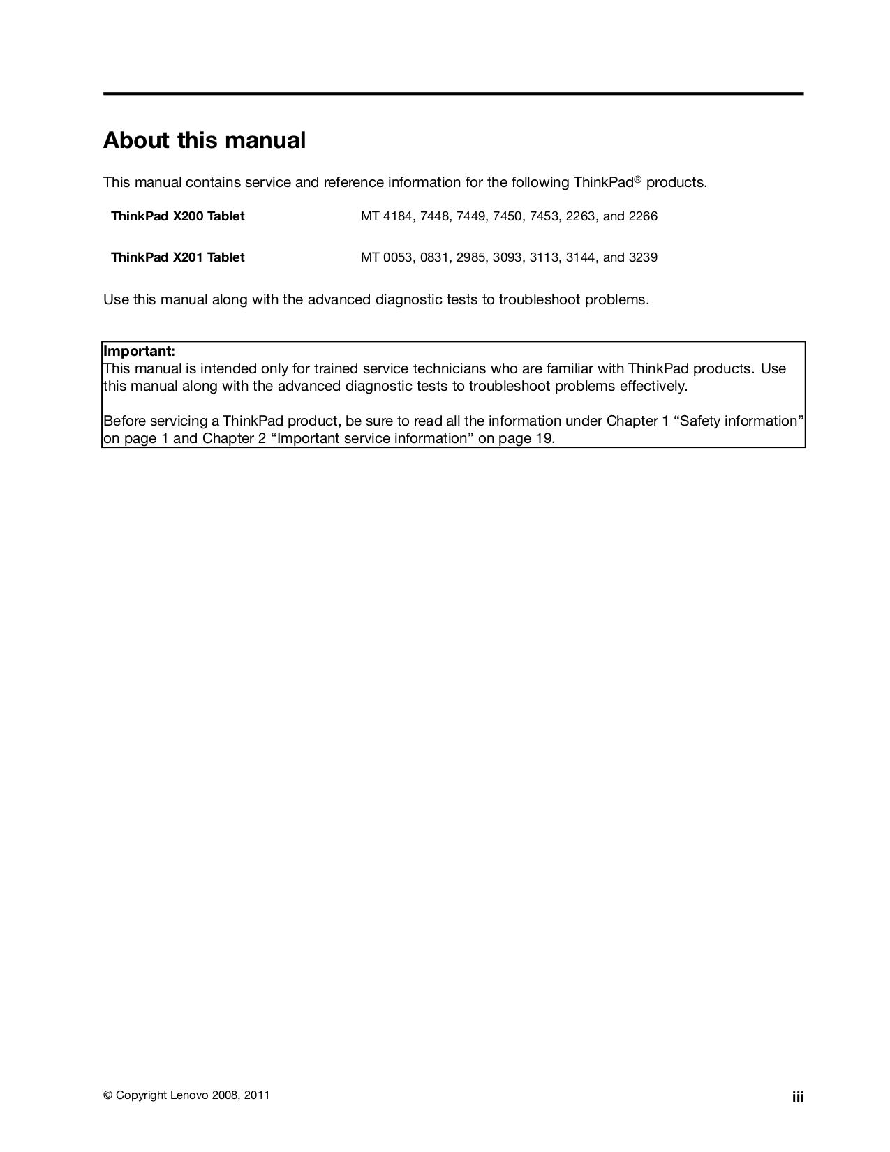 PDF manual for Lenovo Laptop ThinkPad X201 Tablet 3113