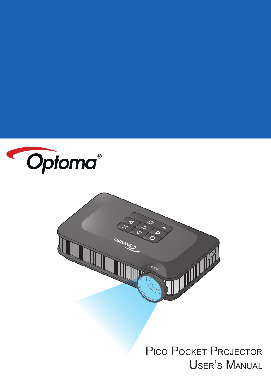 pdf for Optoma Projector PK320 manual