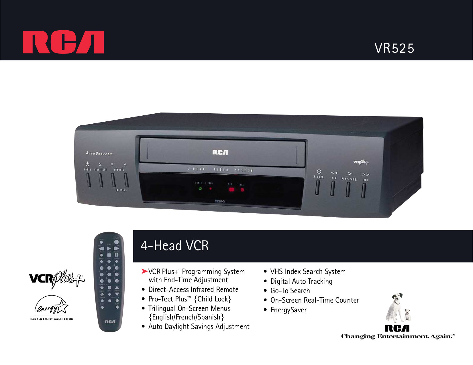 rca vcr plus manual daily instruction manual guides u2022 rh testingwordpress co RCA VHS to DVD Recorders RCA DVD Player