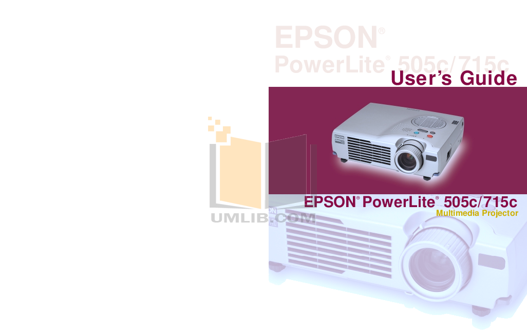 pdf for Epson Projector EMP-715 manual