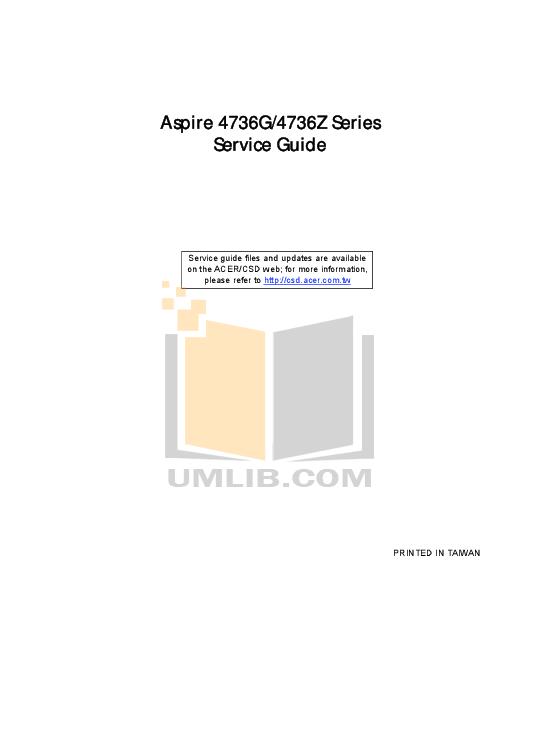 pdf for Acer Desktop Aspire 6600 manual