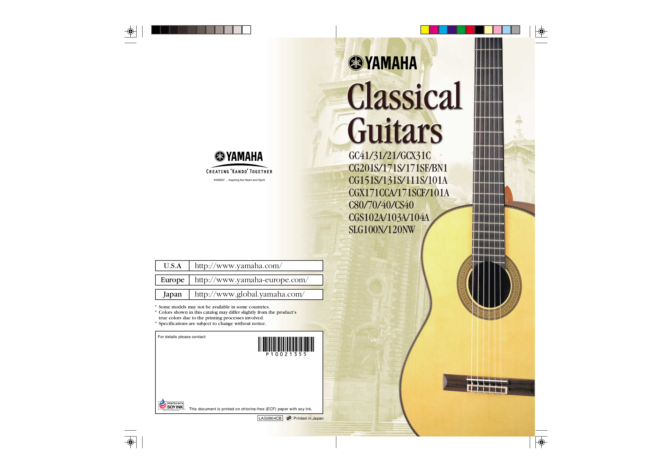 pdf for Yamaha Guitar CGS102A manual