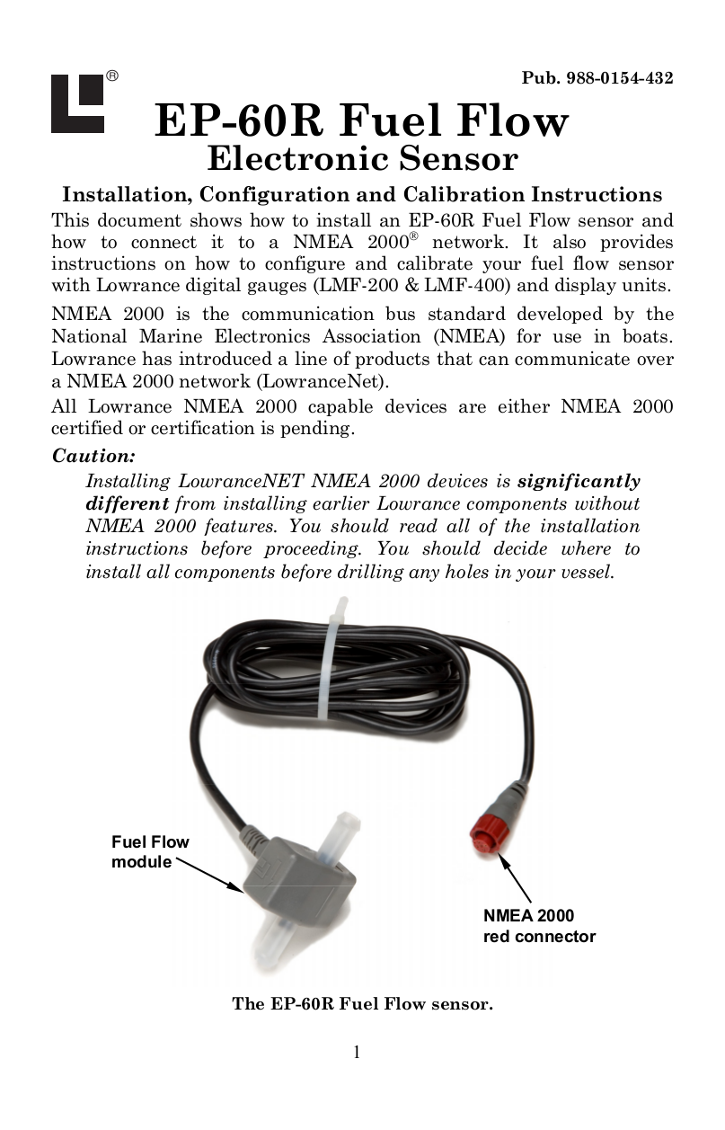 pdf for Lowrance GPS 60-Ohm Terminator manual