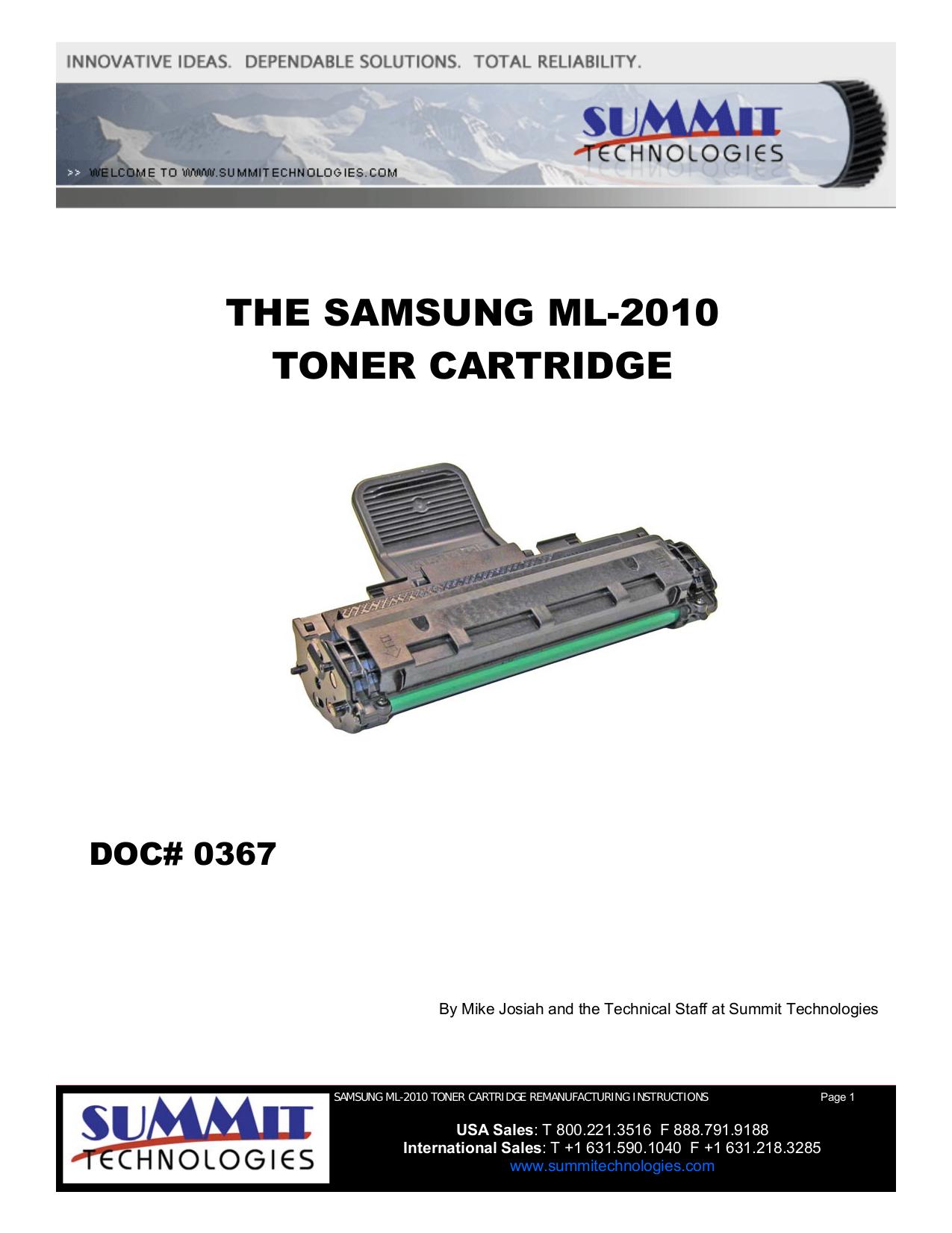 pdf for Samsung Printer ML-85G manual