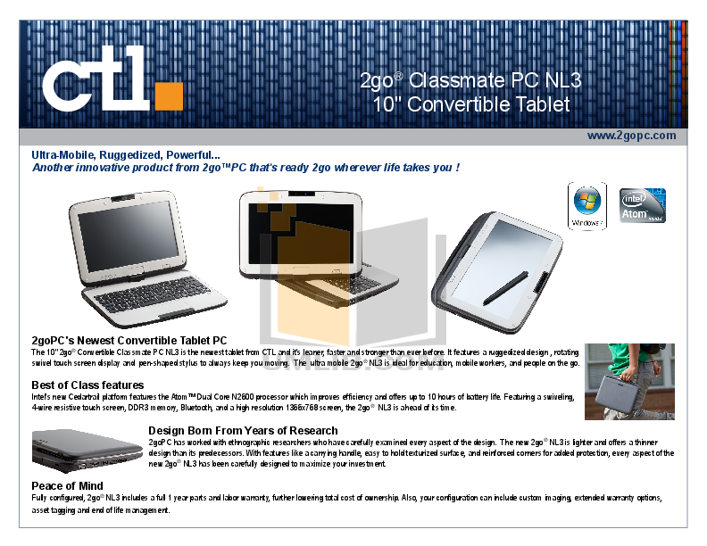 Download free pdf for Ctl 2GO Convertible Classmate PC Laptop manual