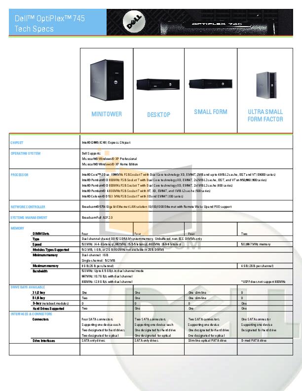 Dell optiplex 745 desktop download instruction manual pdf.