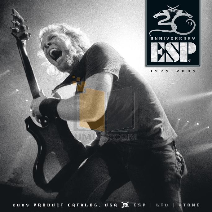 pdf for ESP Guitar ALEXI-600 manual