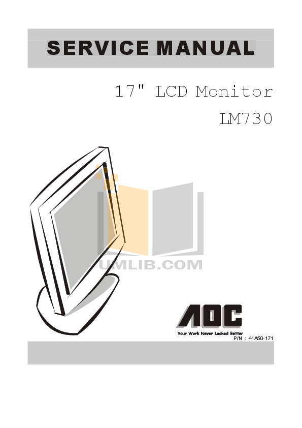 pdf for AOC Monitor LM720 manual