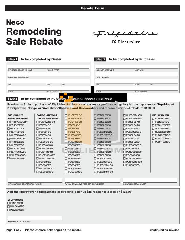 pdf for Frigidaire Refrigerator FRT17G5CSB manual