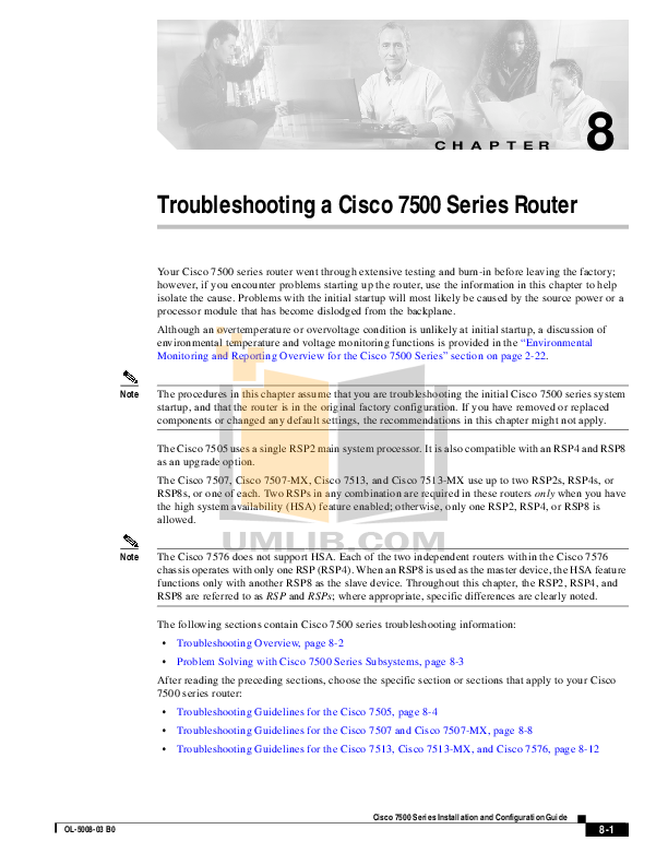 pdf for Cisco Router 7500 manual