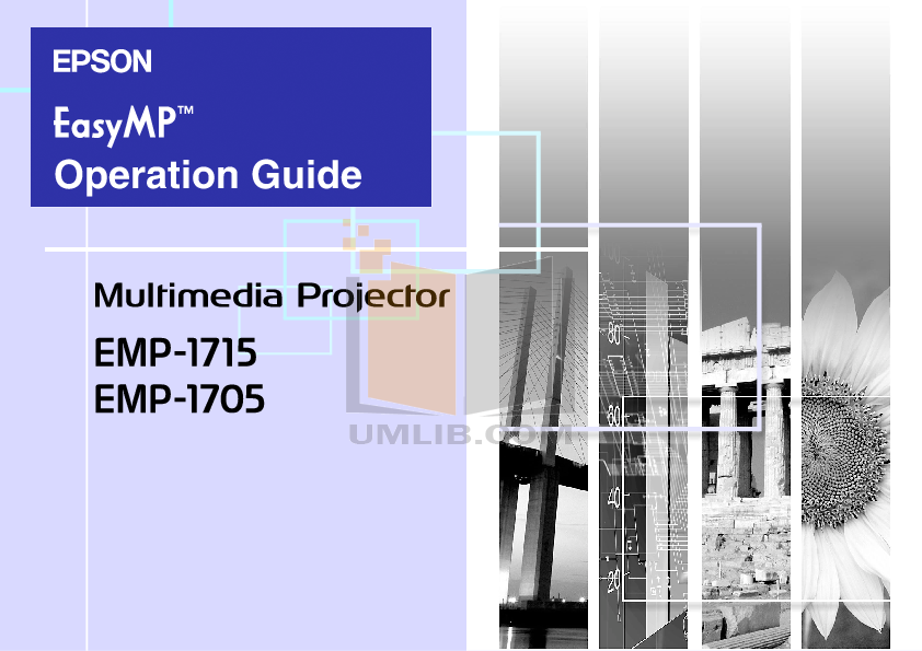 pdf for Epson Projector EMP-1705 manual