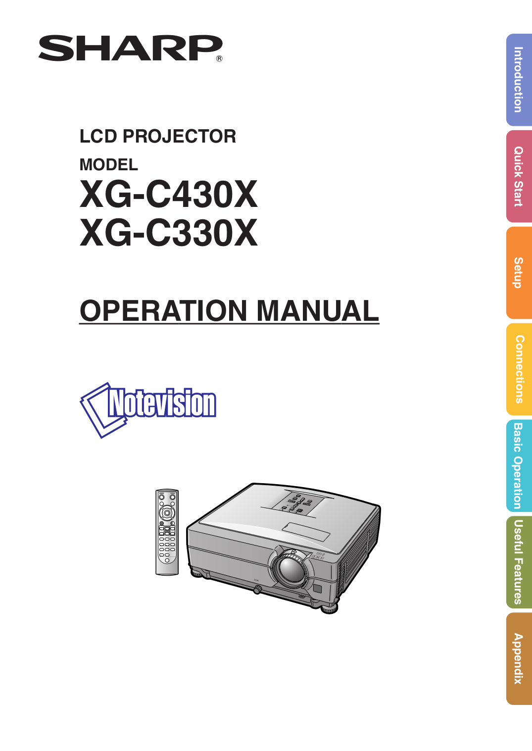 Download free pdf for sharp xg-c430x projector manual.