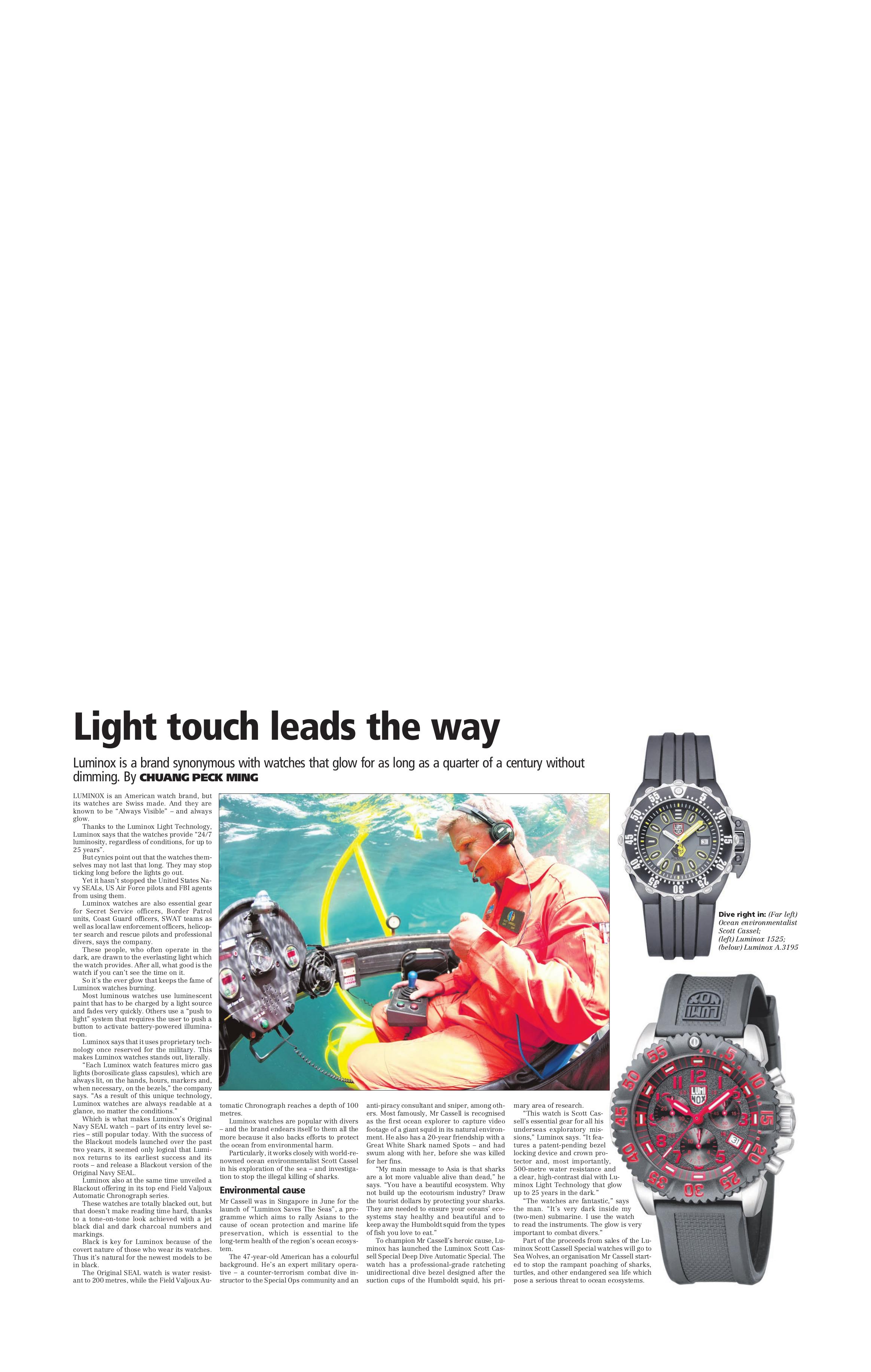 pdf for Luminox Watch Navy SEAL 3003 manual