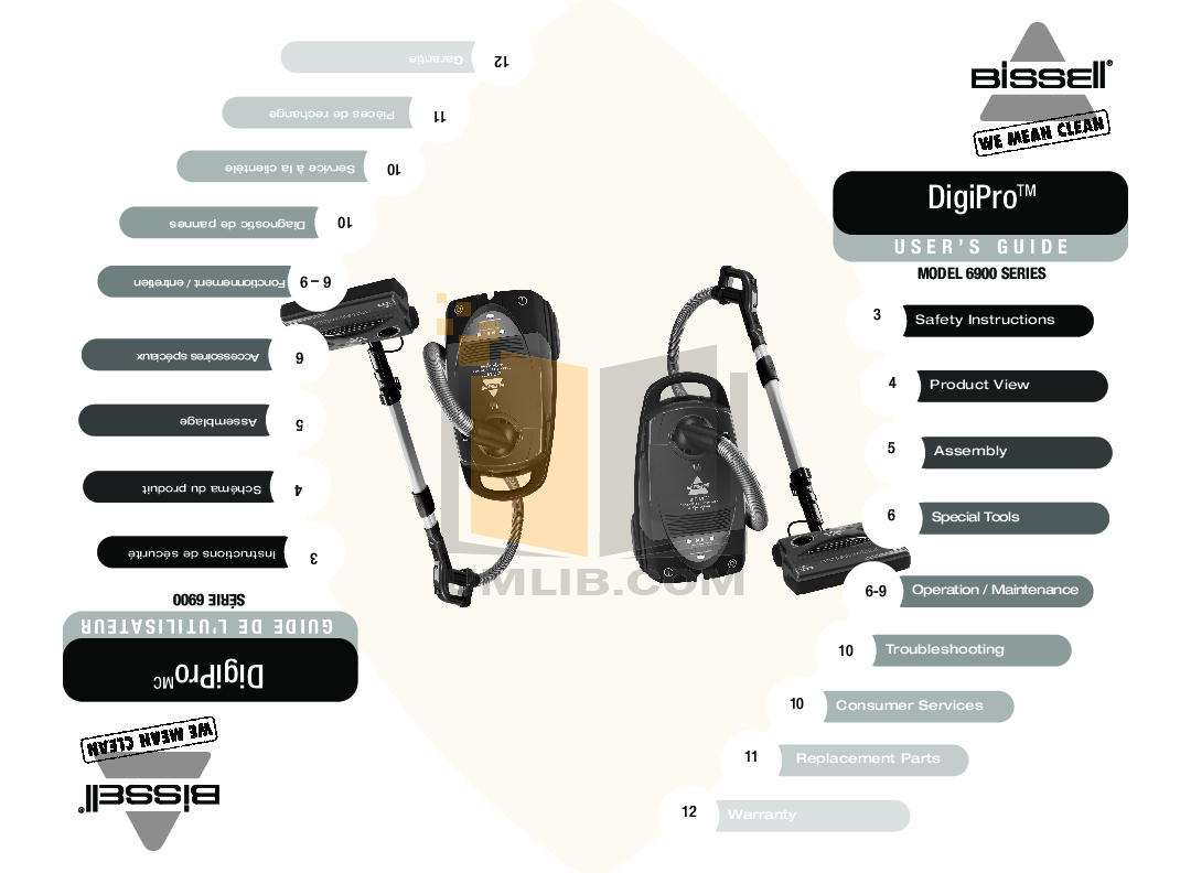 pdf for Bissell Vacuum 6900 manual