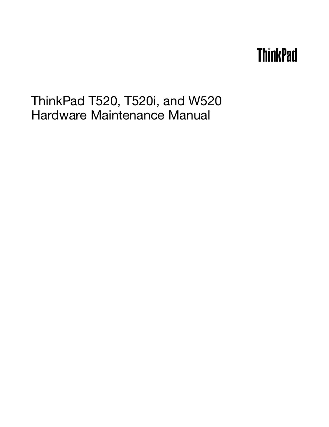 pdf for Lenovo Laptop ThinkPad W520 4276 manual
