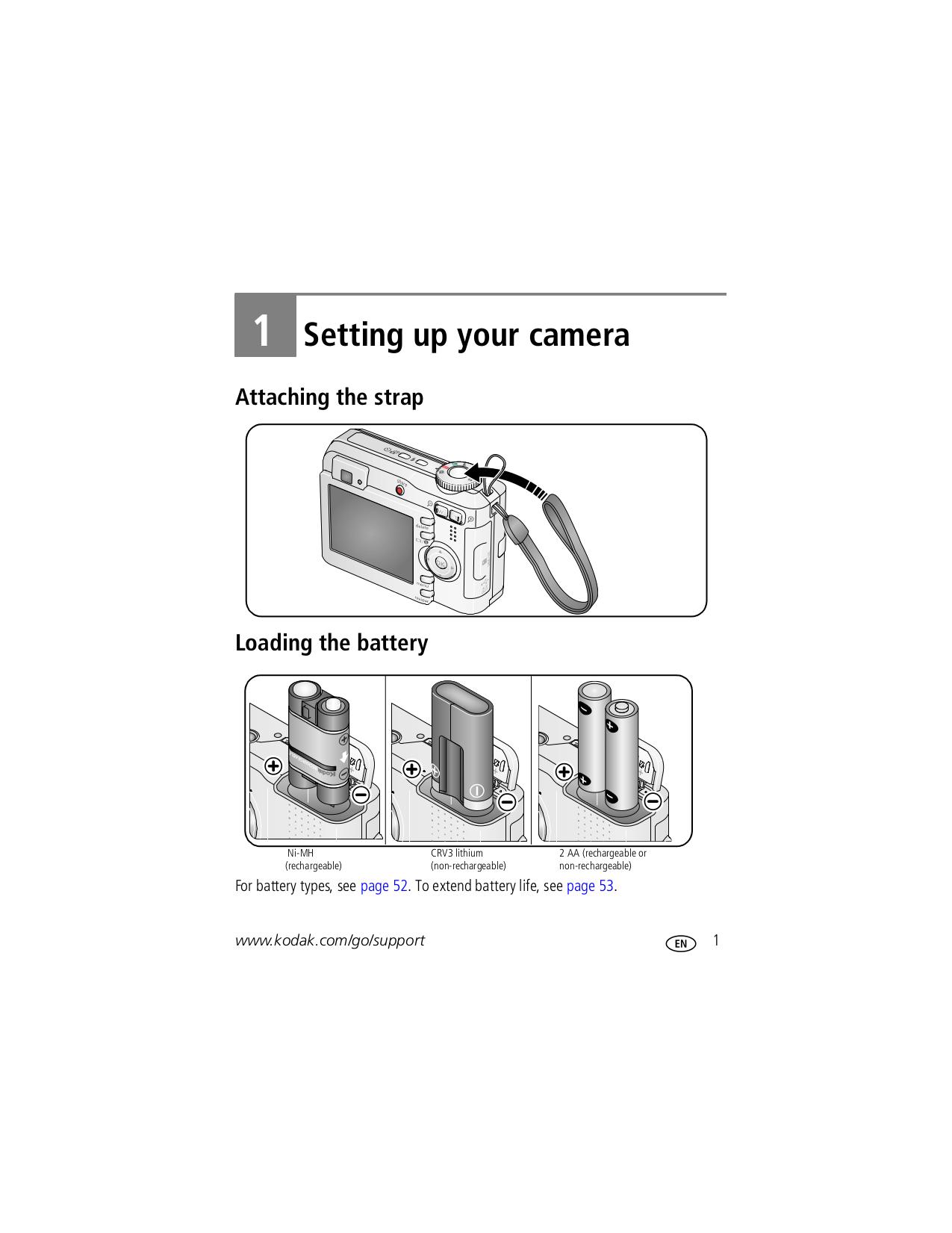 Kodak Digital Camera EasyShare C633 pdf page preview