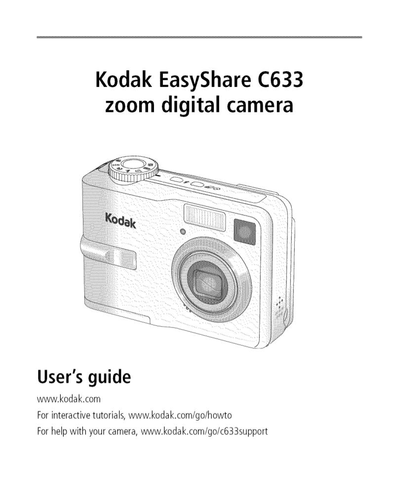 Kodak Digital Camera EasyShare C633 pdf page preview