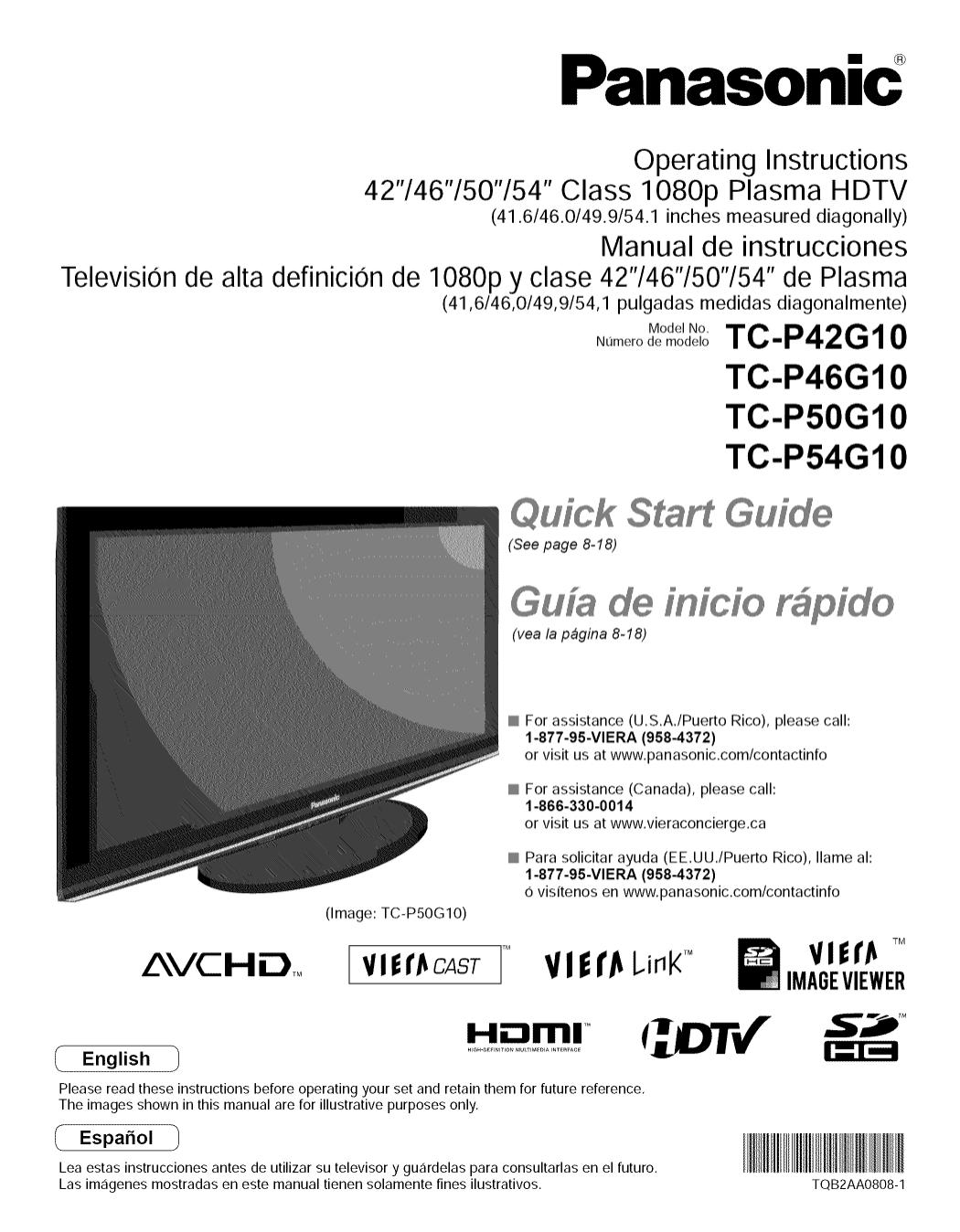 download free pdf for panasonic viera tc p50g10 tv manual rh umlib com Panasonic Viera 42 Troubleshooting Panasonic 50 Plasma TV