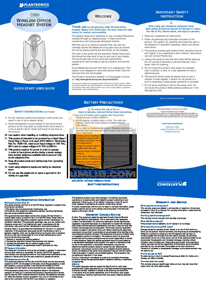 pdf for Energy Speaker C50 manual