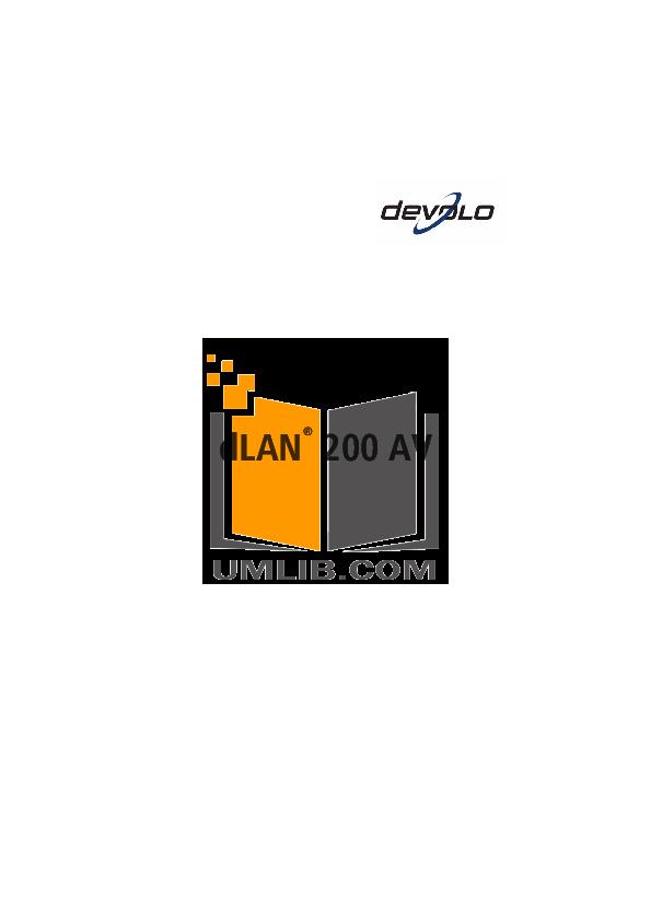 pdf for Devolo Other dLAN Highspeed Starter Kit Adapter manual