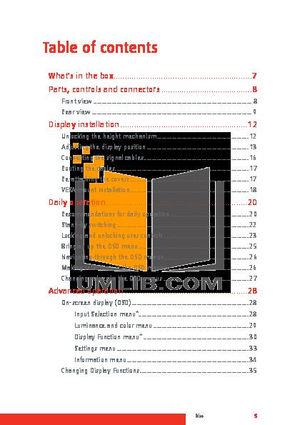 Barco Monitor Nio 3MP pdf page preview