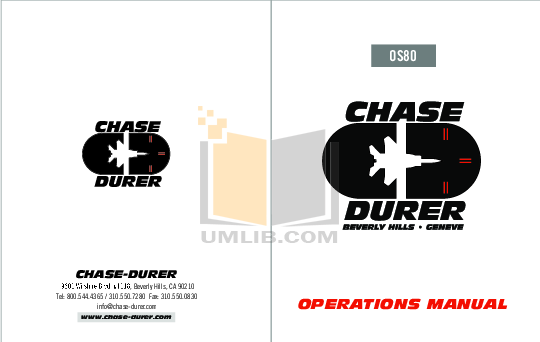 pdf for Chase-durer Watch Condor Automatic manual