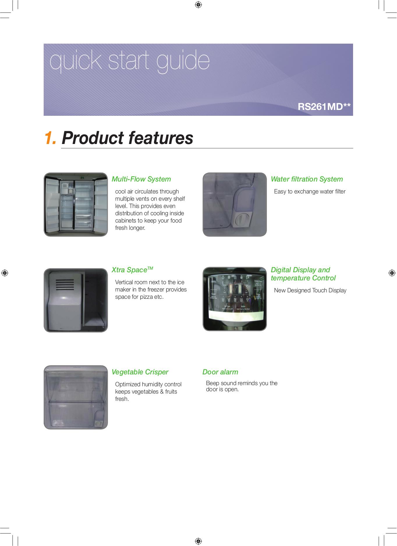 download free pdf for samsung rs265tdrs refrigerator manual