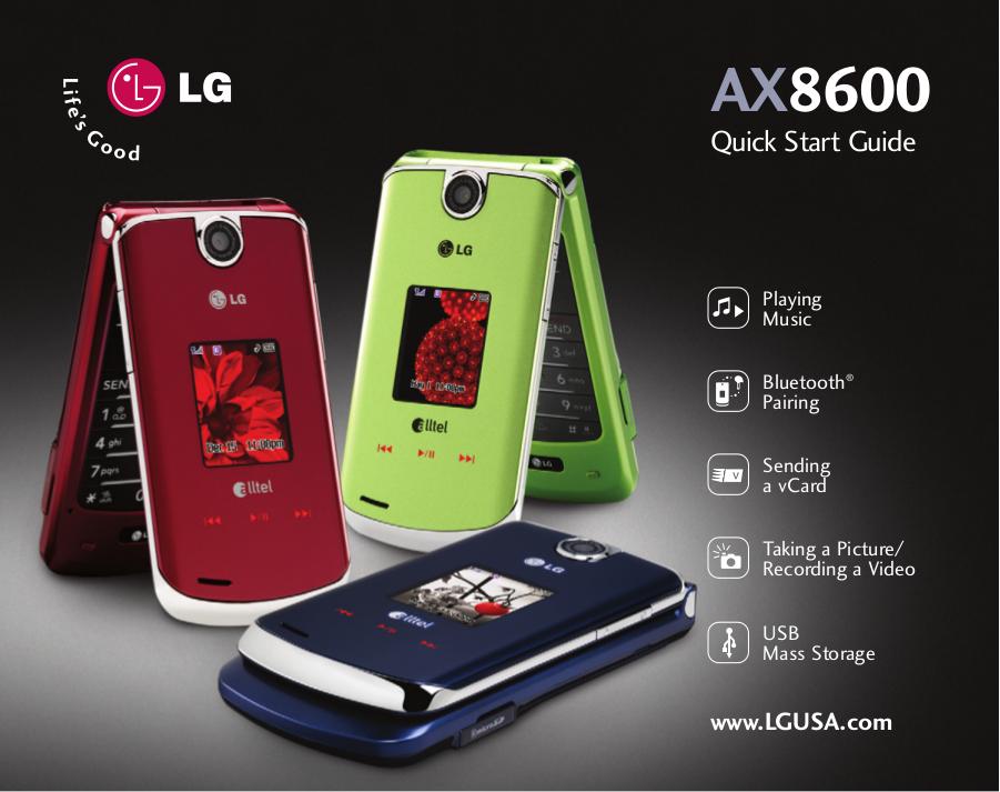download free pdf for lg ax8600 cell phone manual rh umlib com LG AX8600 Blue LG 8600 Cell Phone