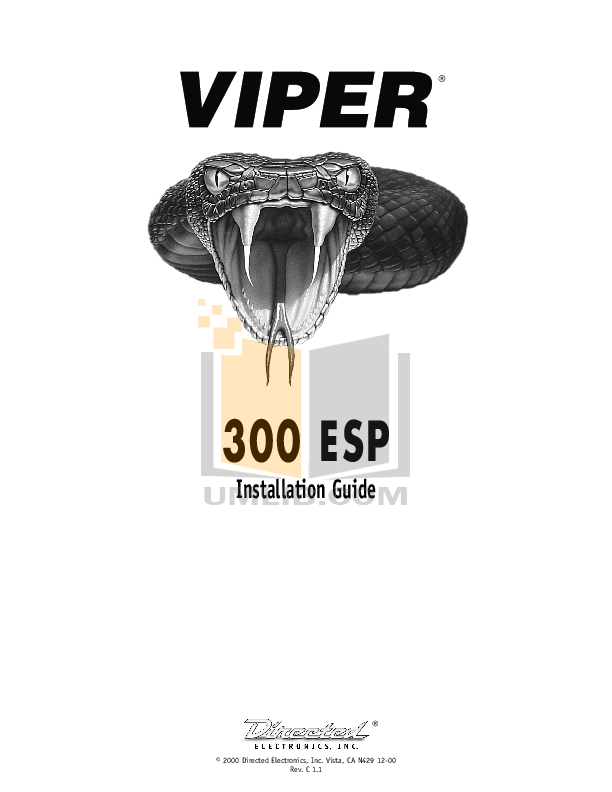 download free pdf for dei viper 300esp car alarms other manual rh umlib com ESP Viper White viper 300 esp installation manual