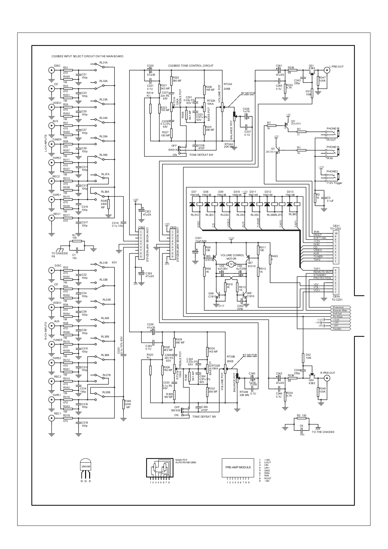PDF manual for NAD Amp C320BEE