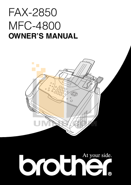 pdf for Brother Fax Machine FAX-2200M manual