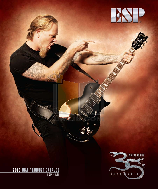 pdf for ESP Guitar Nergal HEX-7 manual