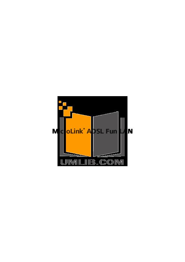 pdf for Devolo Other MicroLink ADSL Fun LAN Modem manual