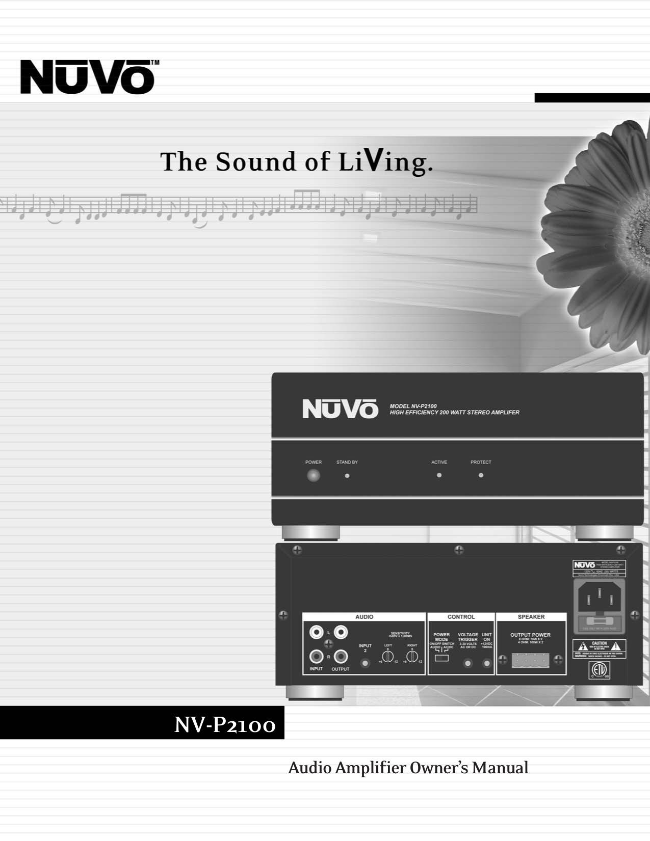 download free pdf for nuvo nv p2100 amp manual rh umlib com Nuvo Grand Concerto Nv-18Gezp nuvo grand concerto user manual