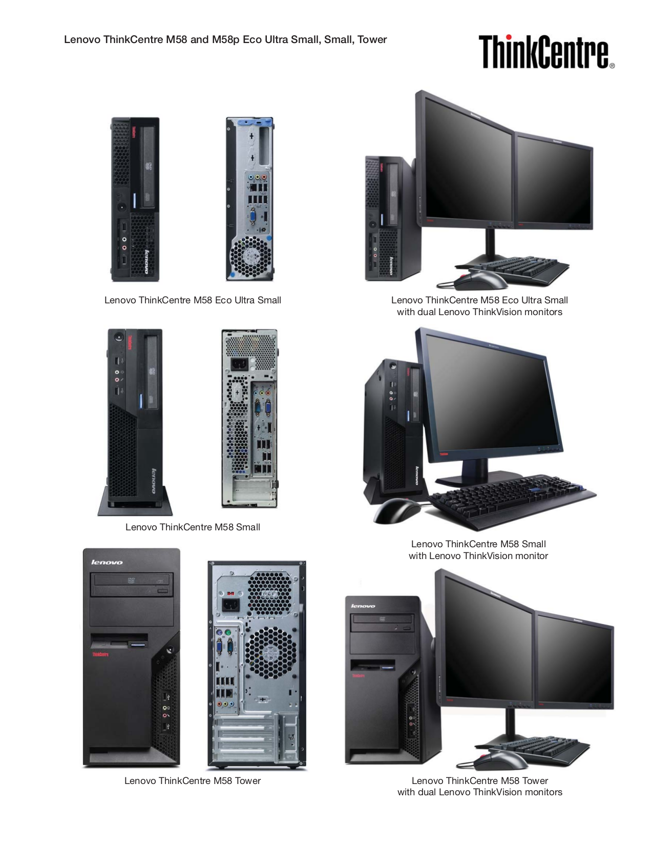 Lenovo Desktop ThinkCentre M75e 5053 pdf page preview
