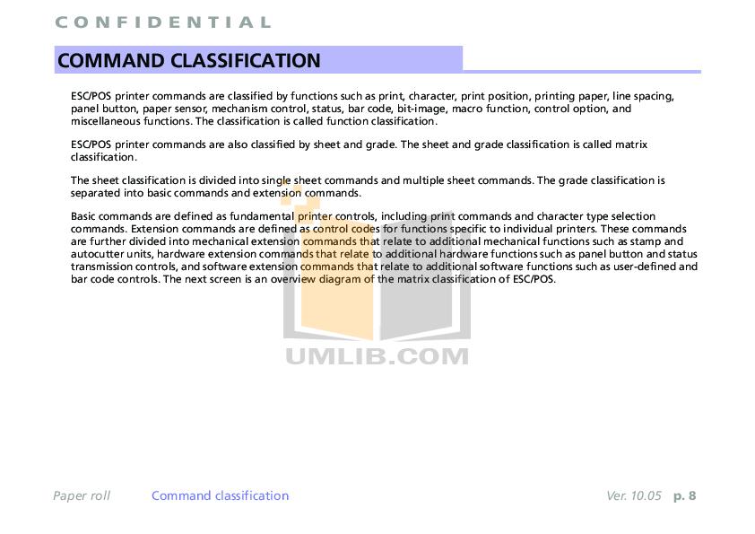 PDF manual for Epson Printer TM-T88V