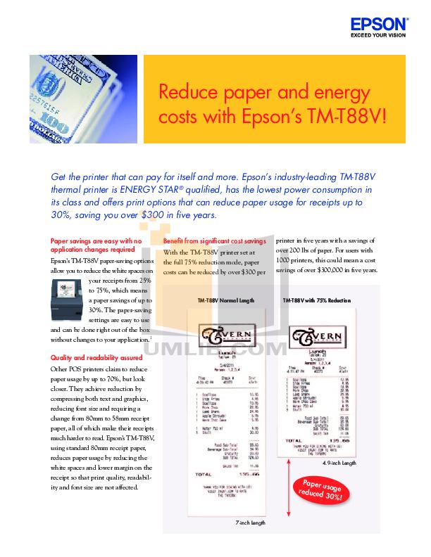 download free pdf for epson tm t88v printer manual