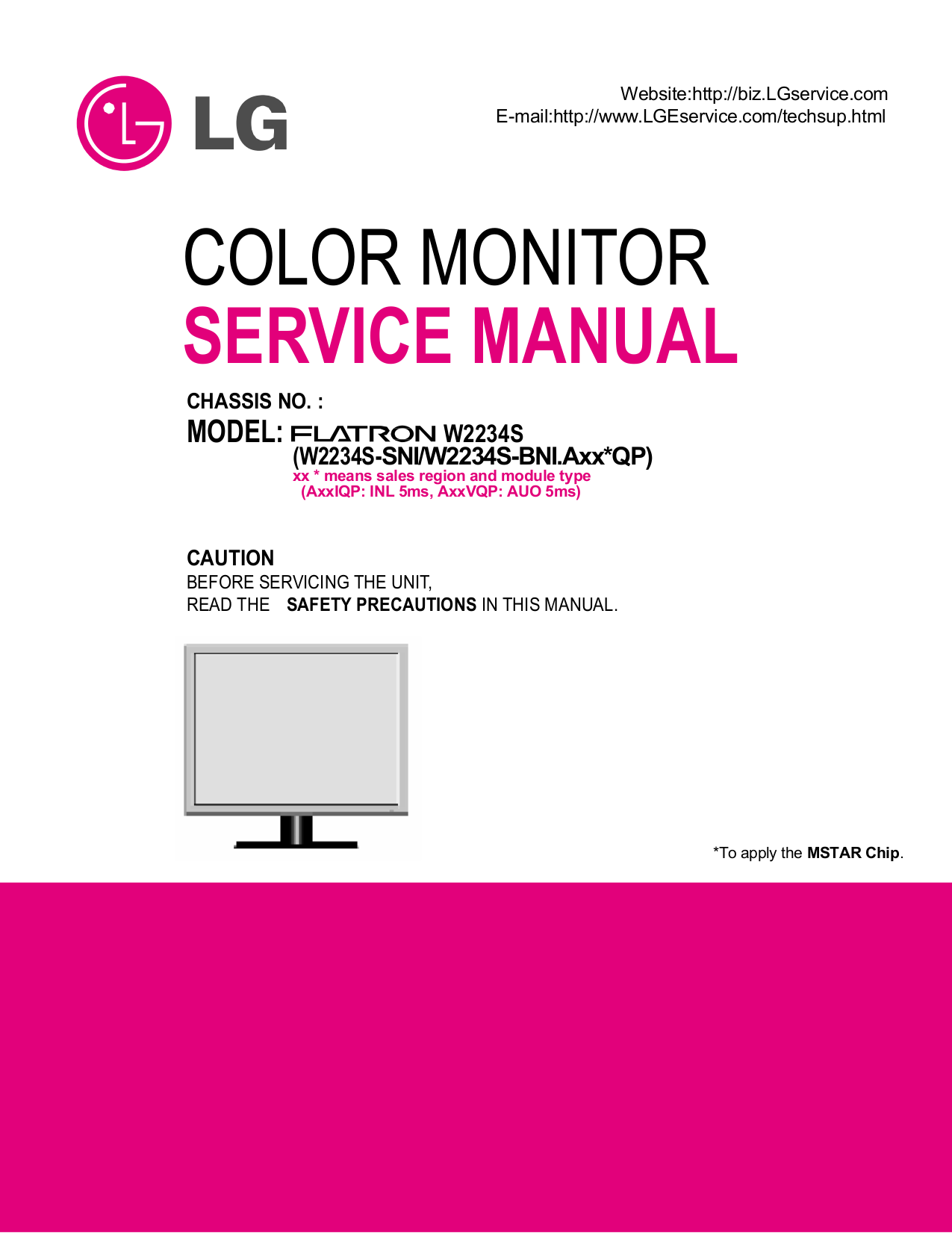 pdf for LG Monitor W2042P manual