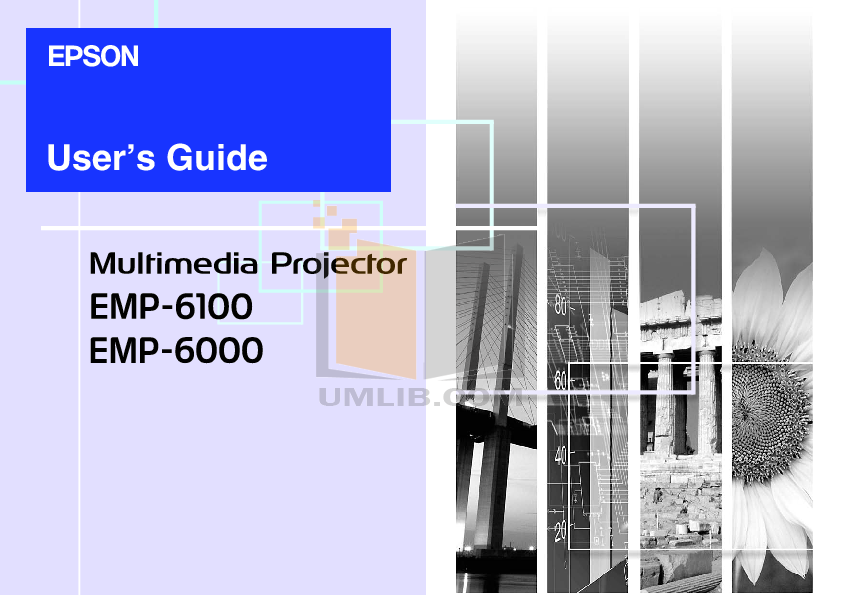 pdf for Epson Projector EMP-6100 manual