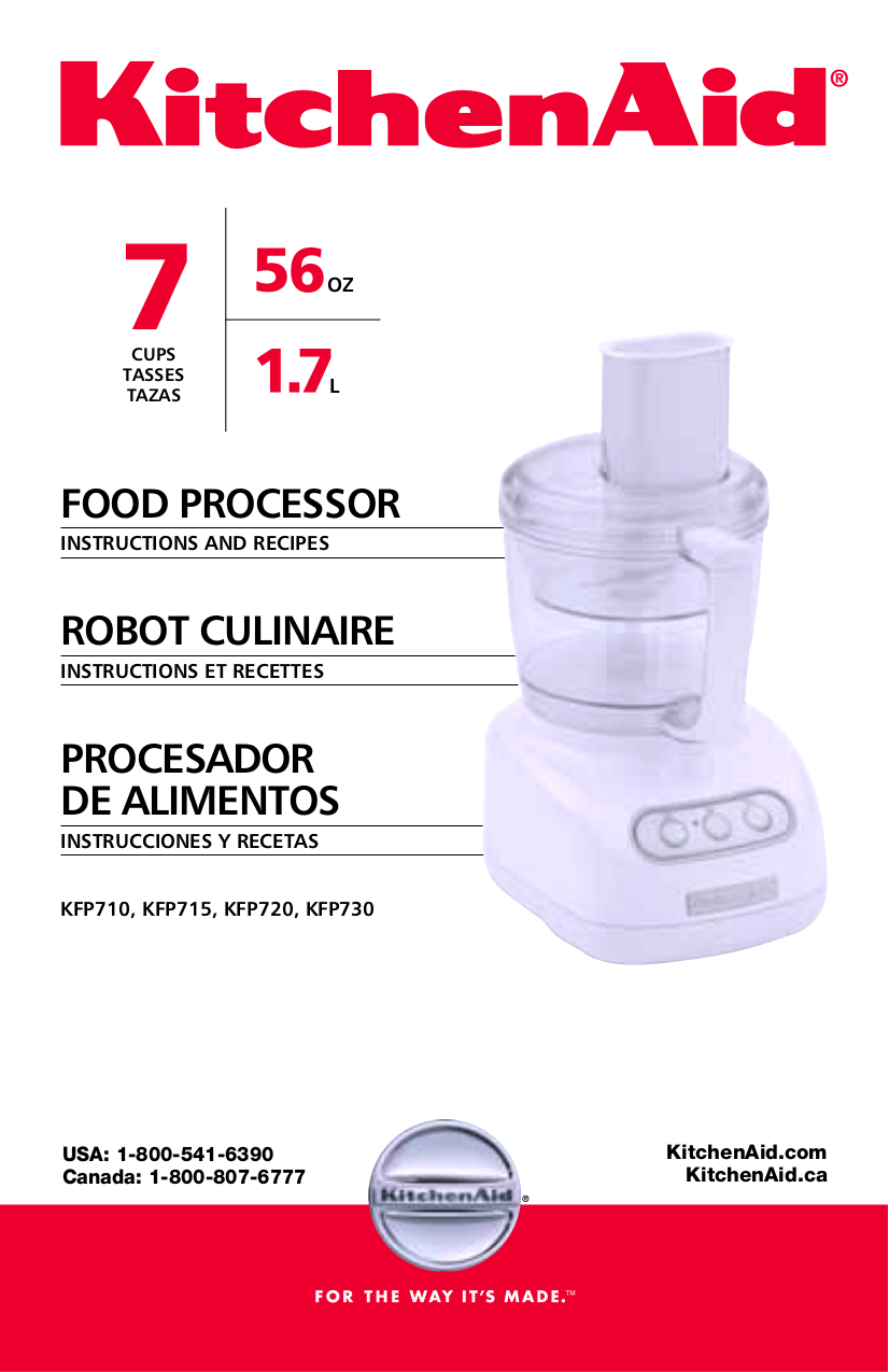Pdf For KitchenAid Food Processor KFP710 Manual
