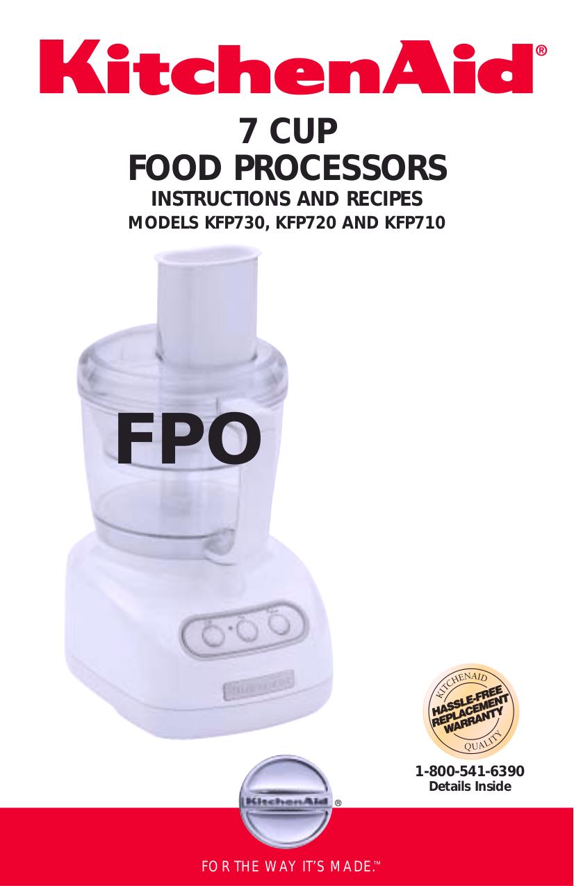 Pdf For KitchenAid Food Processor KFP710 Manual