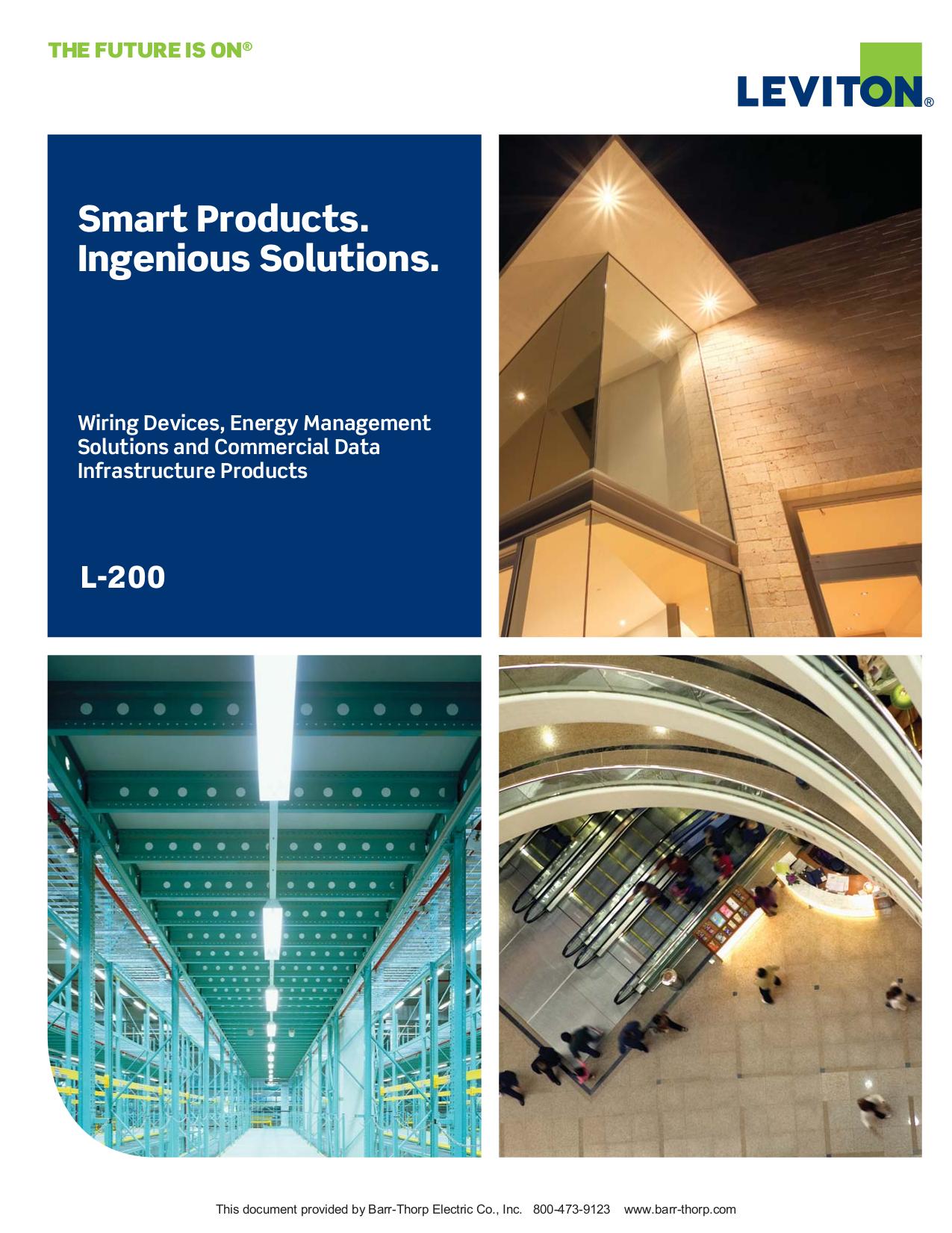 Download free pdf for Leviton 47611-8PT Switch manual