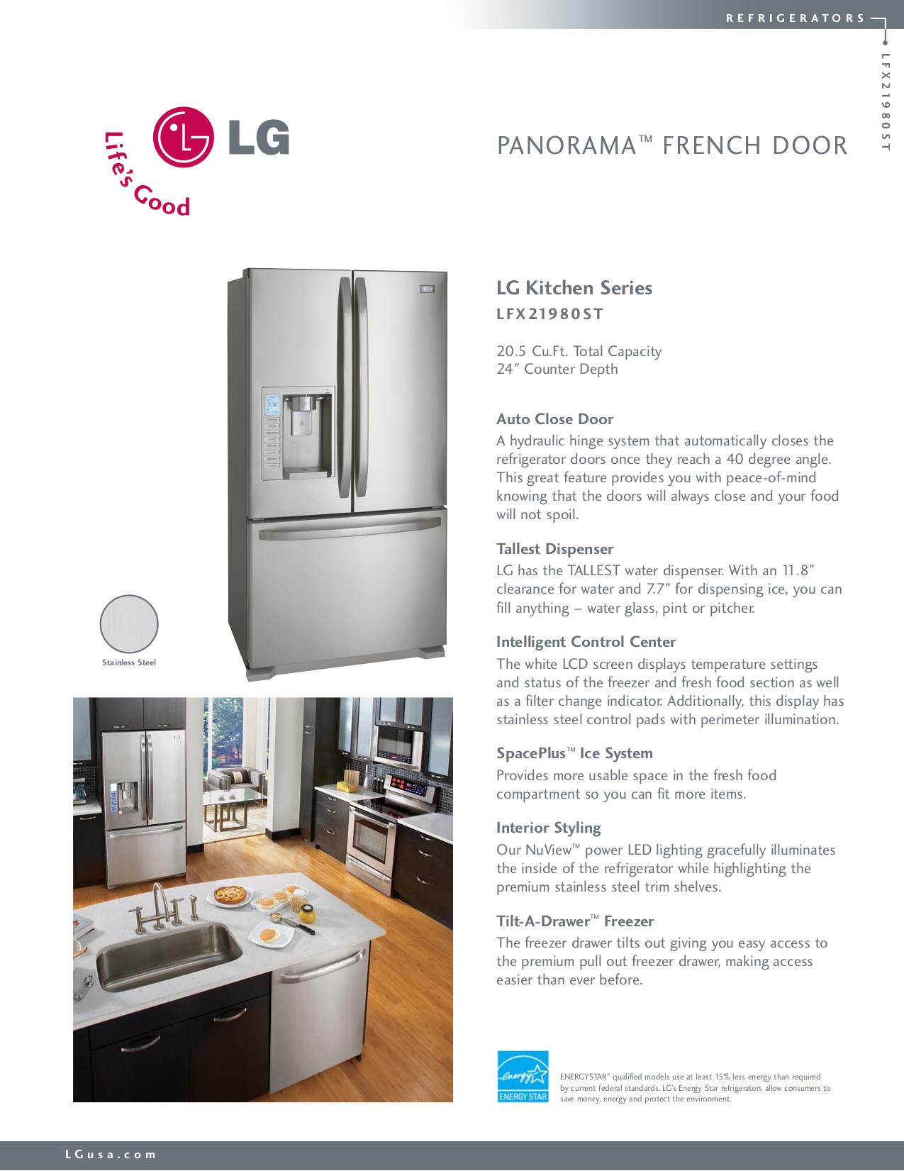 pdf for LG Refrigerator LFX21980ST manual