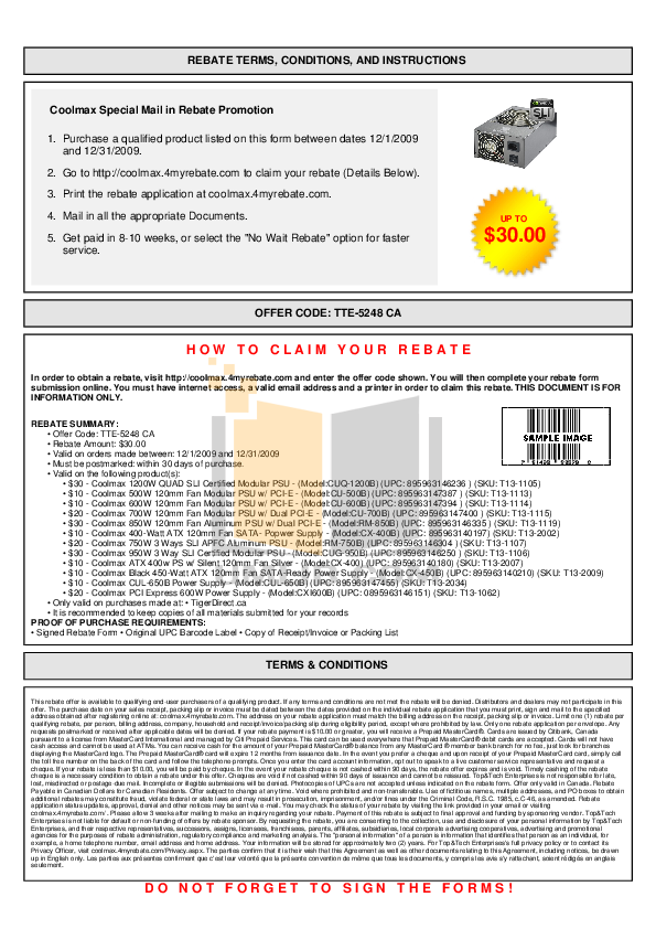 pdf for Coolmax Other RM-750B Power Supply manual