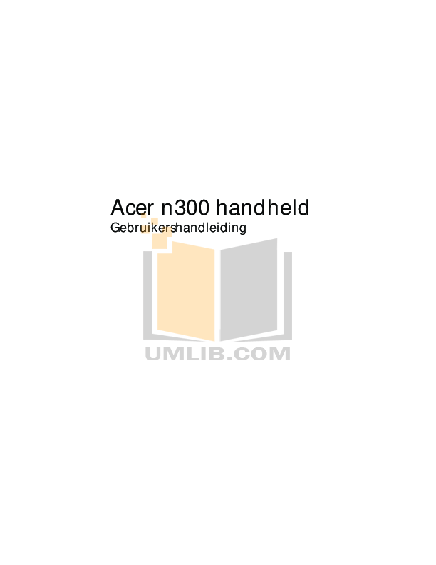 pdf for Acer PDA n300 manual