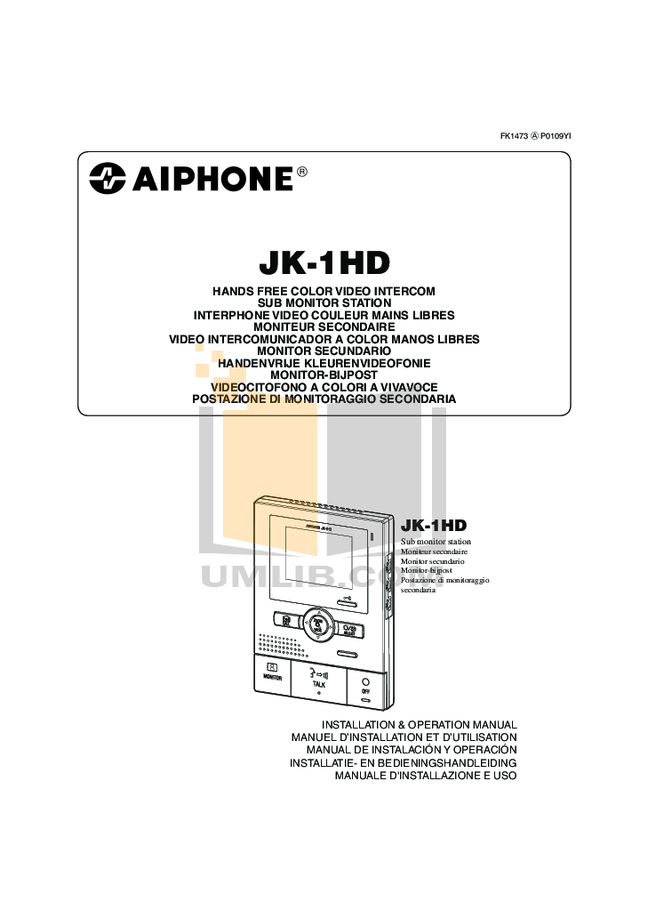 pdf for Aiphone Other NA-A Intercoms manual