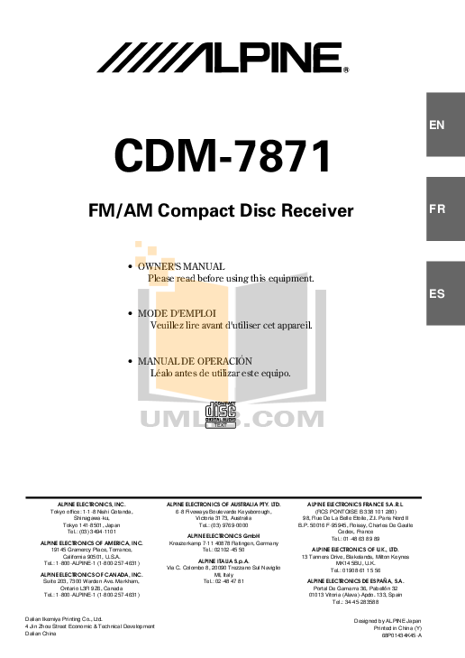 OM_CDM 7871.PDF 0 wat download free pdf for alpine cdm 7871 car receiver manual alpine cdm-7871 wiring harness at aneh.co