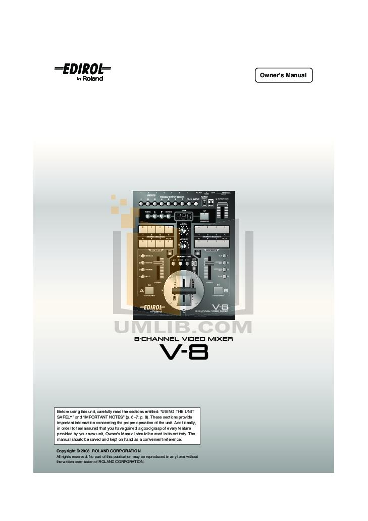 Roland pro a/v v-800hd | multi-format video switcher.